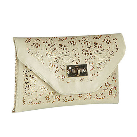 Vintage cut out clutch