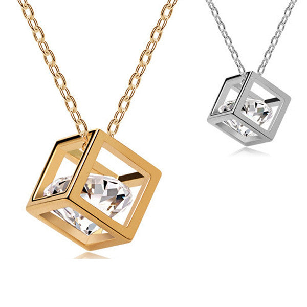 Cube Heart Necklace