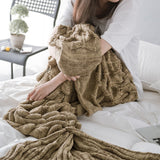 Scaled Mermaid Tail Blanket