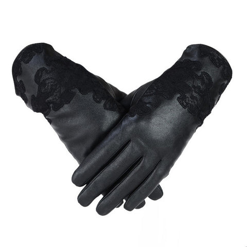 Lace Leather Gloves