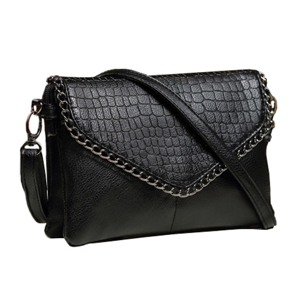 Edgy Chain Crossbody Bag