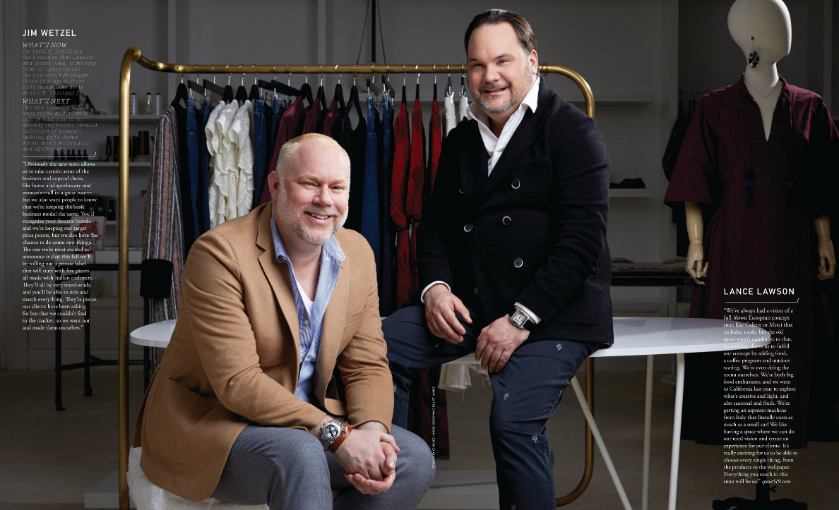 Modern Luxury | Men of the Moment | Lance Lawson and Jim Wetzel