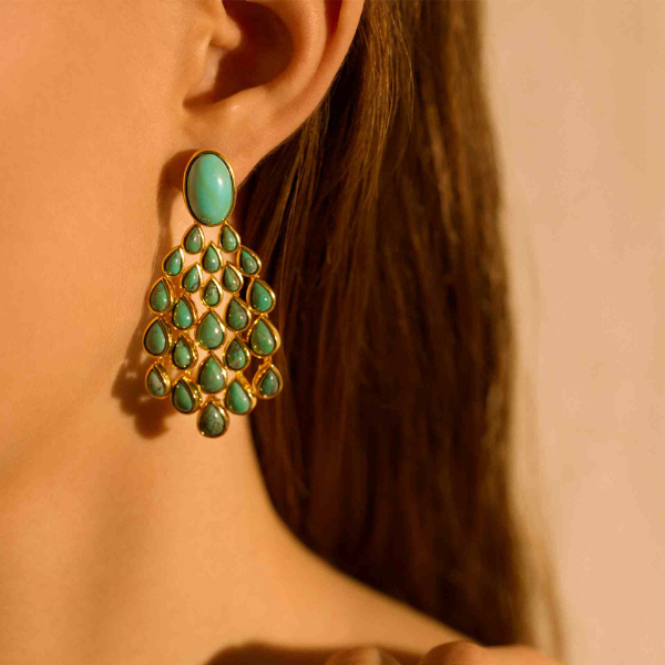 Aurélie Bidermann | Turquoise Cherokee Earrings