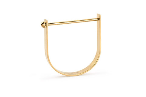 Ina Beissner Gold Side Pipe Bracelet