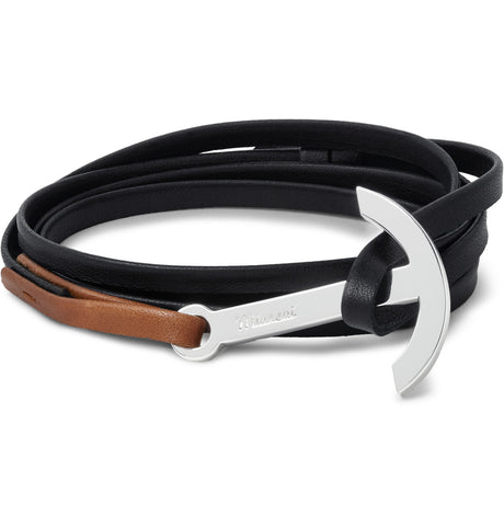 Miansai Modern Anchor on Two-Tone Wrap Bracelet