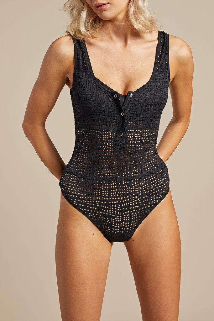 Essaouira Bodysuit in Black