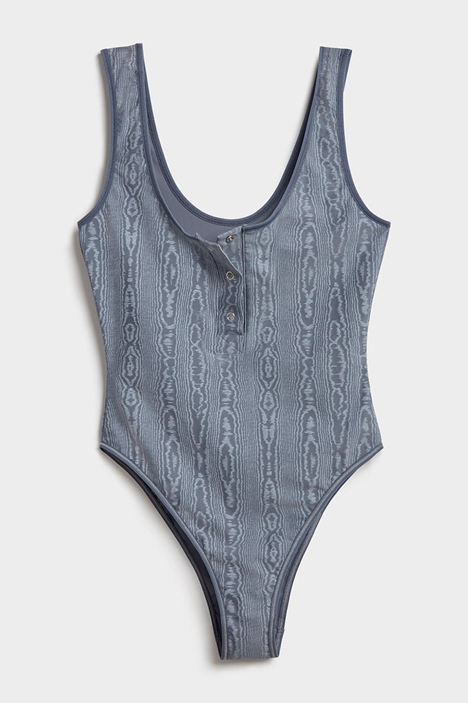 Product photo #3 of Silky Bodysuit in Slate Moiré