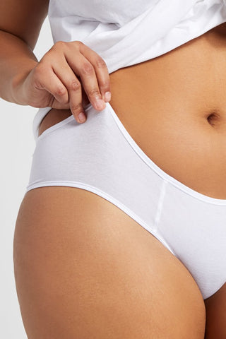 Thumbnail image #3 of Cotton Brief in White [Brittney M-XL]