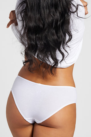 Thumbnail image #2 of Cotton Brief in White [Brittney M-XL]