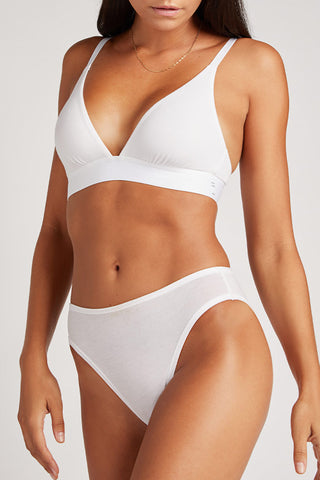 Thumbnail image #2 of Cotton French Cut Brief in White [Paula XS]
