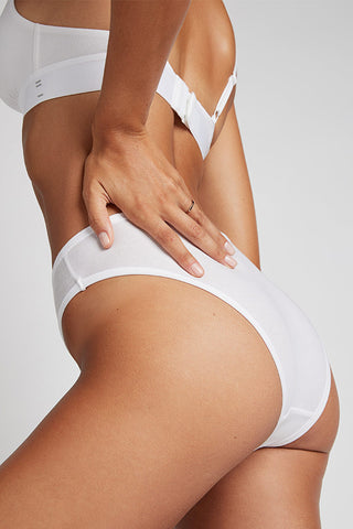 Thumbnail image #1 of Cotton French Cut Brief in White [Paula XS]