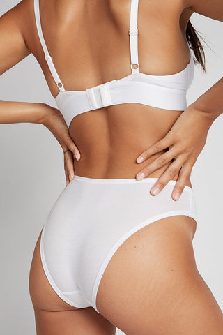 Thumbnail image #3 of Cotton French Cut Brief in White [Paula XS]