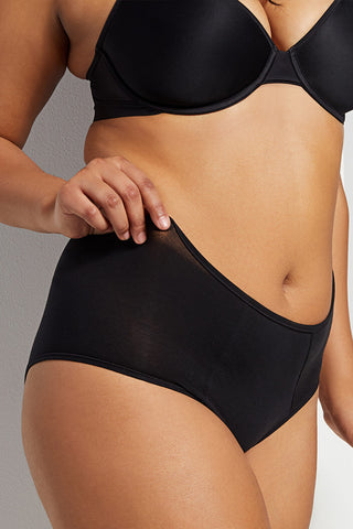 Thumbnail image #1 of Cotton High Waist Brief in Black [Brittney M-XL]