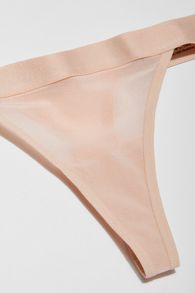 Product photo #5 of Sieve Thong in Peach