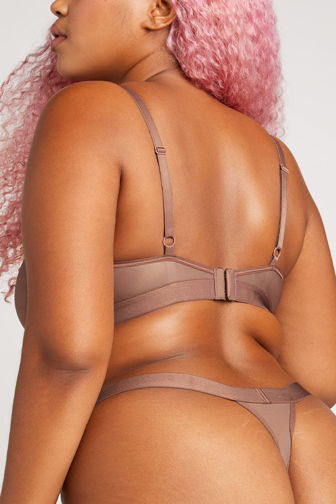 Product photo #2 of Silky Thong in Haze [Hannah L]