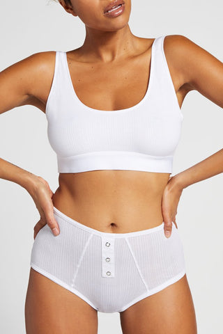 Styled here with the Whipped Bra Top in White [Jackie S]