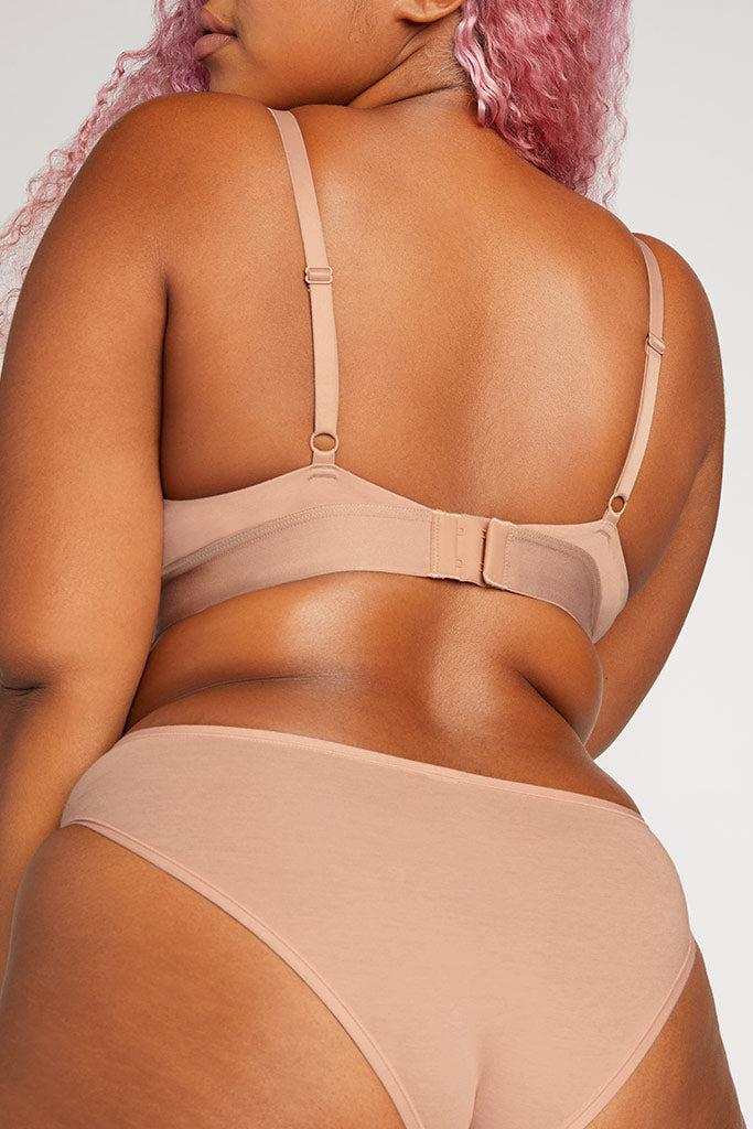 Product photo #6 of Cotton Triangle Bra in Buff [Hannah 4]