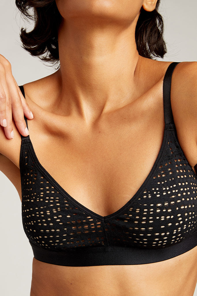 Product photo #2 of Essaouira Non-Wire Bra in Black