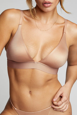 Thumbnail image #2 of Glacé Triangle Bra in Buff