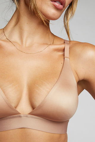 Thumbnail image #1 of Glacé Triangle Bra in Buff