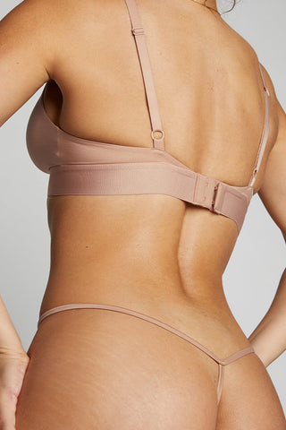 Thumbnail image #3 of Glacé Triangle Bra in Buff