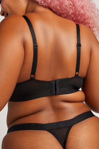 Thumbnail image #3 of Lined Sieve Demi Bra in Black [Hannah 36DD]