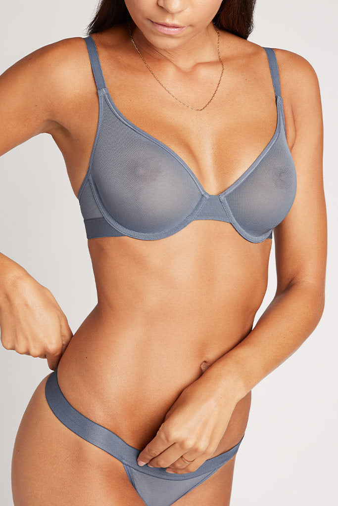 Product photo #3 of Sieve Demi Bra in Slate [Paula 32C]