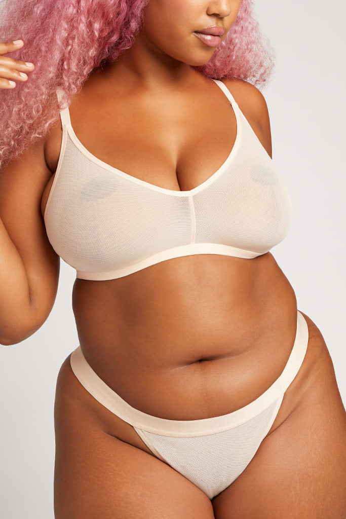 Product photo #4 of Sieve Non-Wire Bra in Peach [Hannah 4]