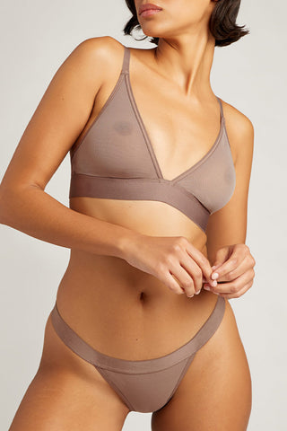 Thumbnail image #2 of Sieve Triangle Bra in Haze