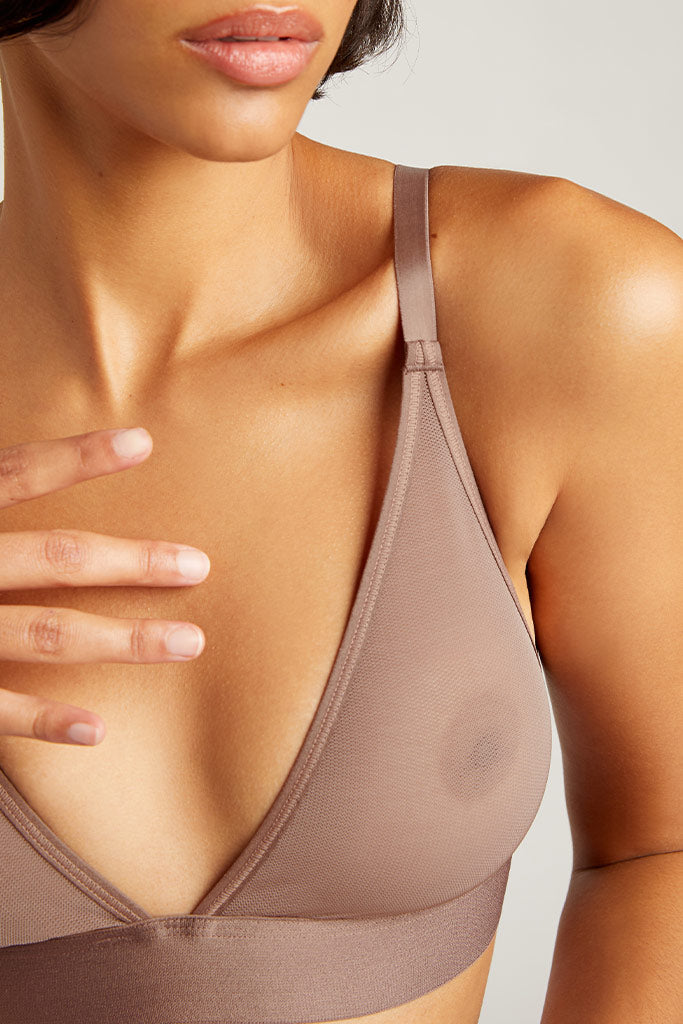 Product photo #1 of Sieve Triangle Bra in Haze