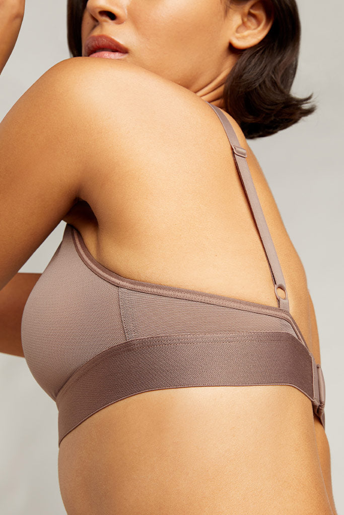 Product photo #4 of Sieve Triangle Bra in Haze