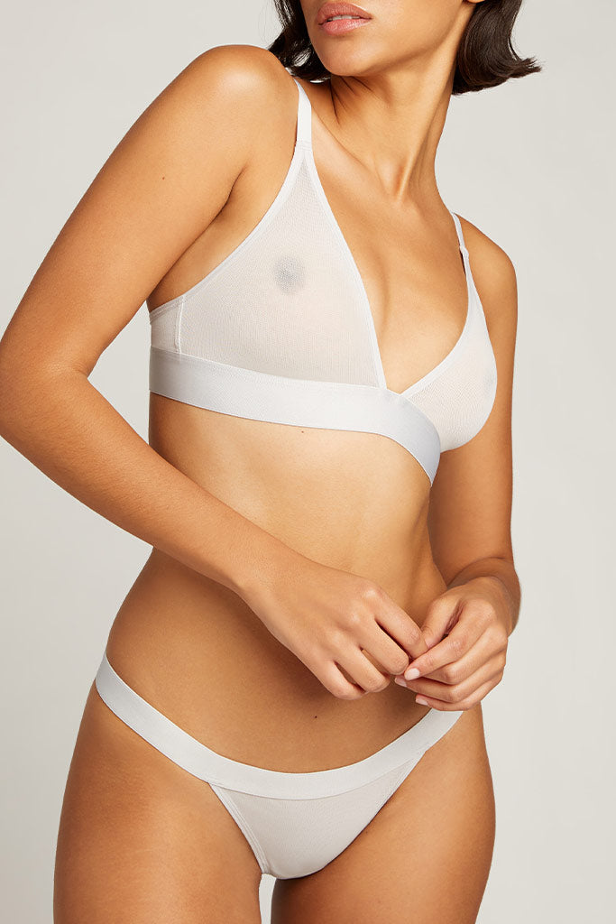 Product photo #3 of Sieve Triangle Bra in Moon