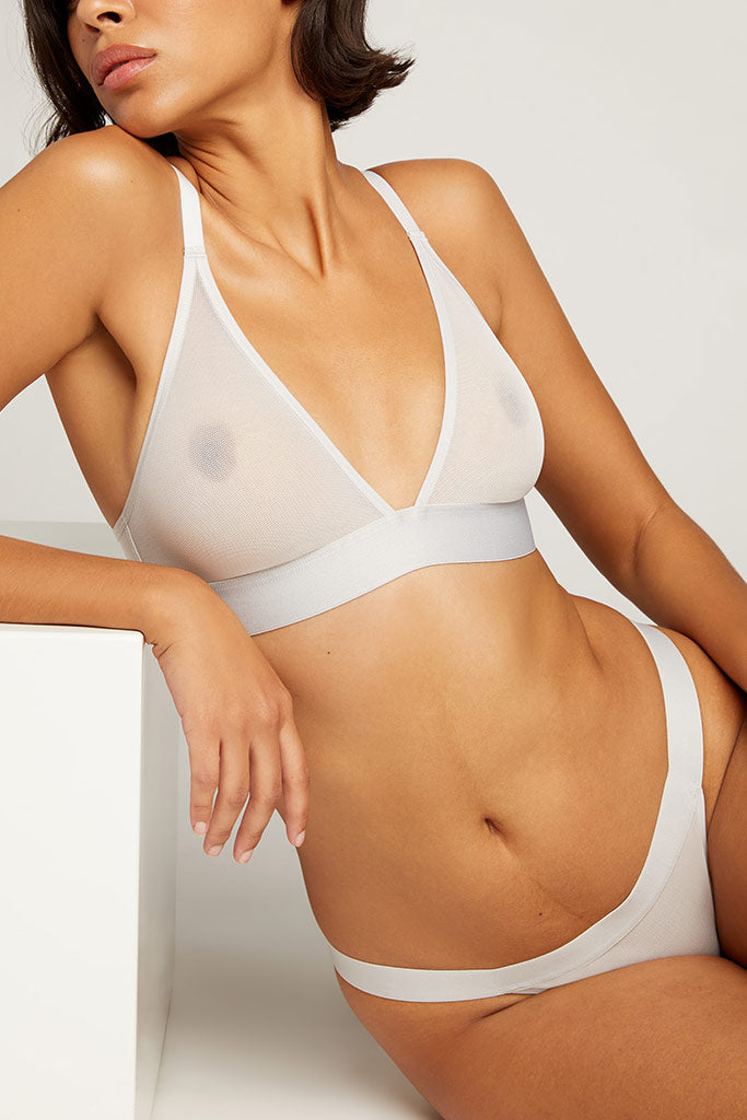 Product photo #1 of Sieve Triangle Bra in Moon