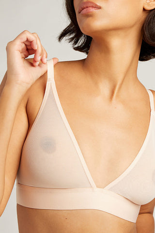 Thumbnail image #1 of Sieve Triangle Bra in Peach
