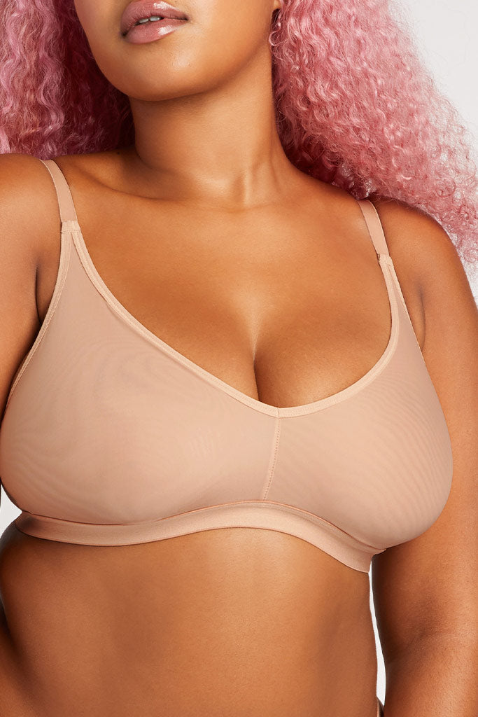 Product photo #5 of Silky Non-Wire Bra 2.0 in Buff [Hannah 4]
