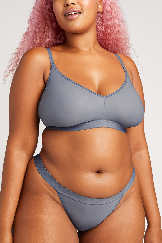 Product photo #3 of Silky Non-Wire Bra 2.0 in Slate [Hannah 4]