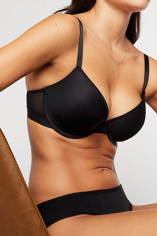 Thumbnail image #3 of Stealth Mode Demi Bra in Black [Paula 32C]