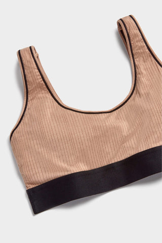 Thumbnail image #5 of Whipped Bra Top in Buff + Black