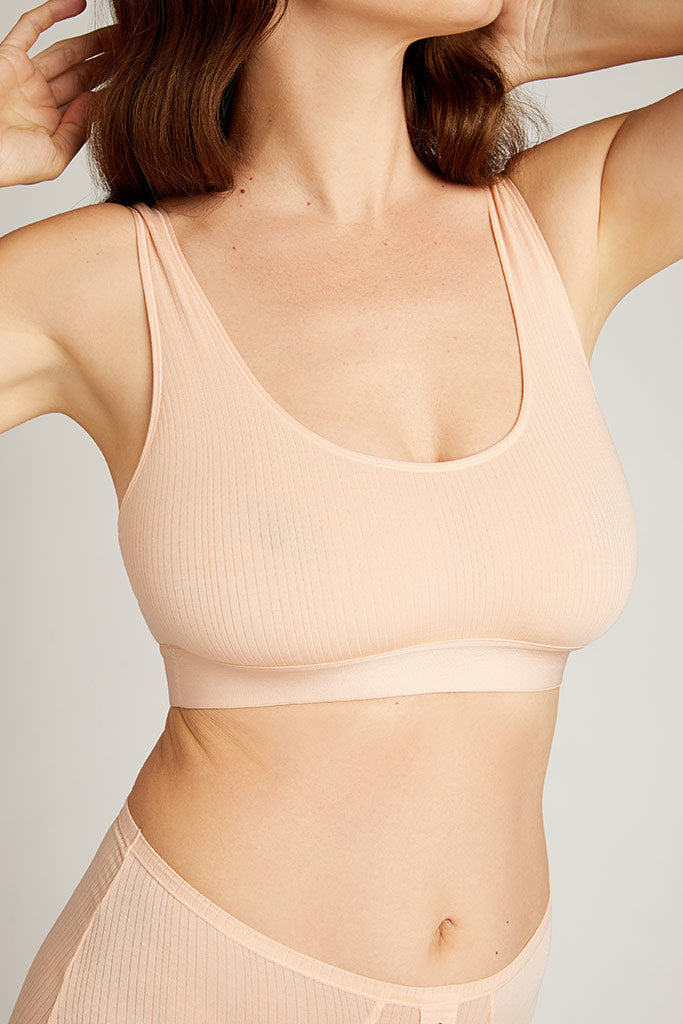 Whipped Bra Top in Peach