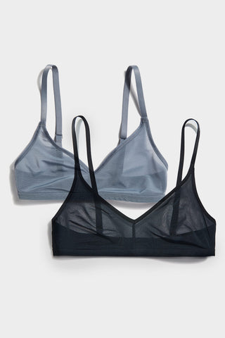 Thumbnail image #1 of Sieve Non-Wire Bra in Black and in Slate (2 Pack)