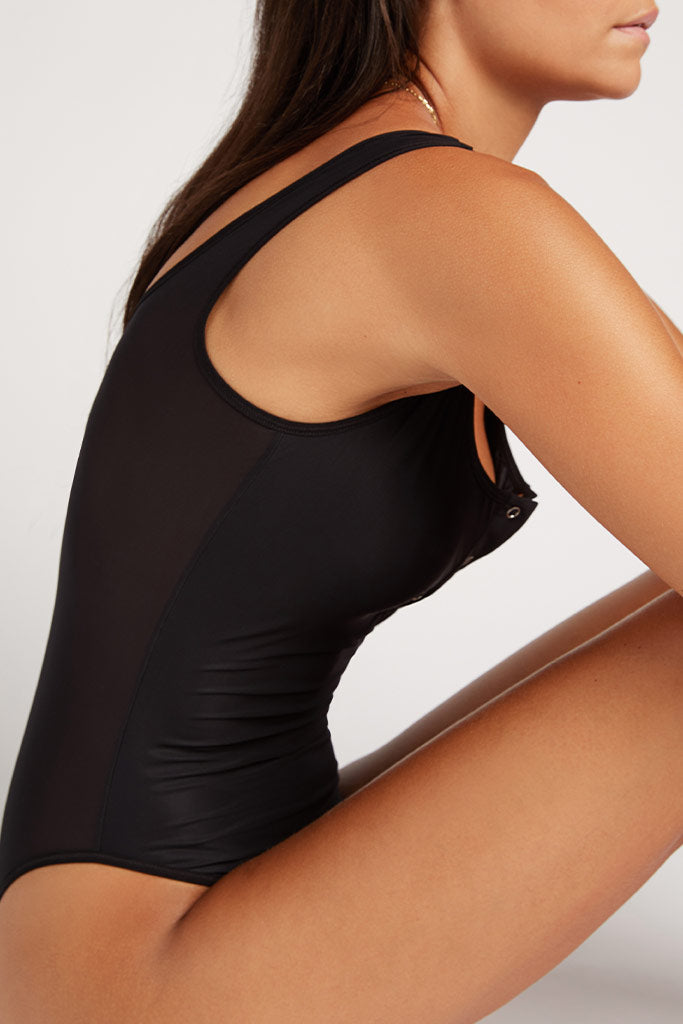 Product photo #4 of Silky Bodysuit in Black [Paula XS]