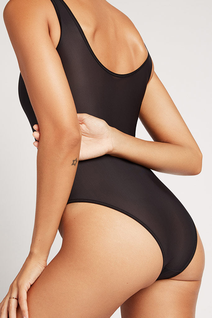 Product photo #2 of Silky Bodysuit in Black [Paula XS]