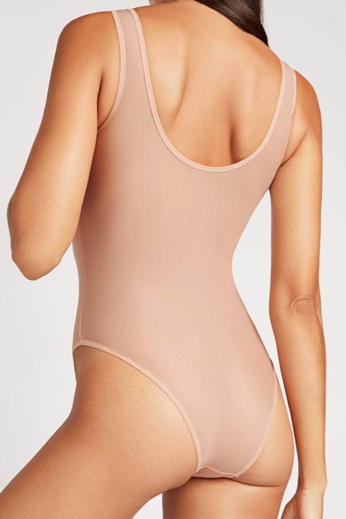 Product photo #3 of Silky Bodysuit in Buff [Paula XS]