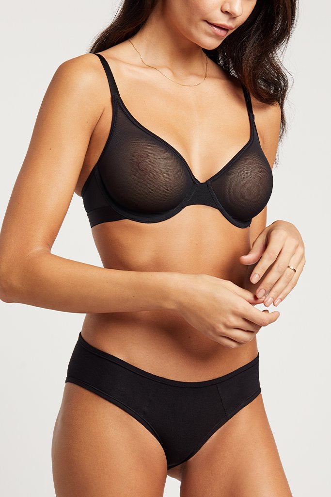 Product photo #1 of Sieve Demi Bra in Black [Paula 32C]