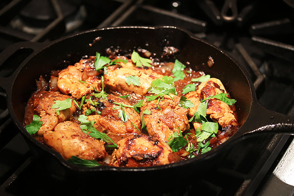 Ina Garten's Skillet-Roasted Lemon Chicken in our Cast Iron Skillet - 12-Inch
