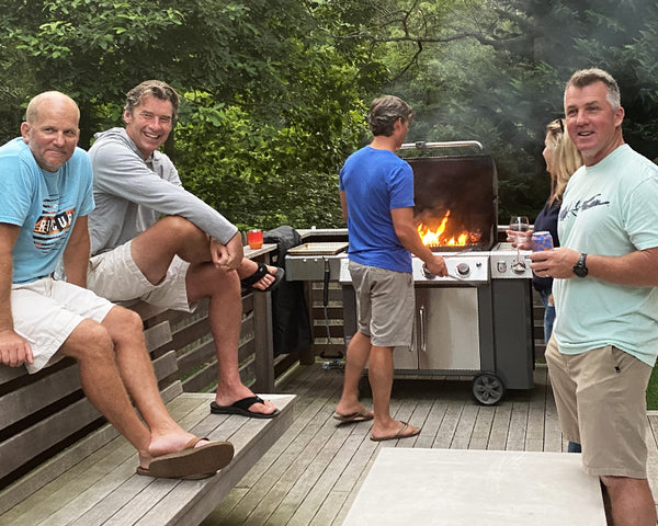 Entertaining outdoors by the grill
