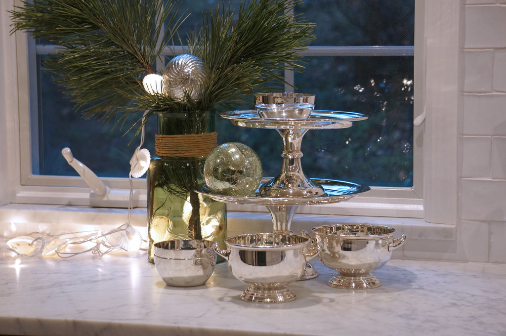 A display of the Hotel Silver Collection pieces.
