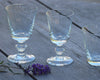 La Rochere Antoine Wine Glasses and water glasses on wooden table