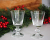 2 La Rochere Antoine Wine Glasses in front of green foliage