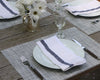 Basketweave Placemats by Chilewich in White/ Silver